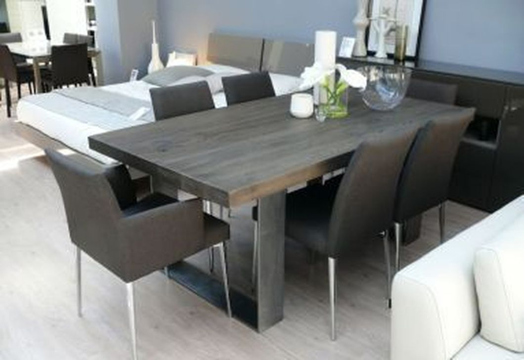Awesome 47 Magnificient Modern Wooden Dining Table Ideas Grey Dining Tables Wooden Dining Room Table Grey Dining Room Table