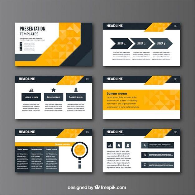 Baixe Apresentação Do Negócio No Estilo Geométrico Gratuitamente Powerpoint Presentation Design Powerpoint Design Templates Brochure Design Template
