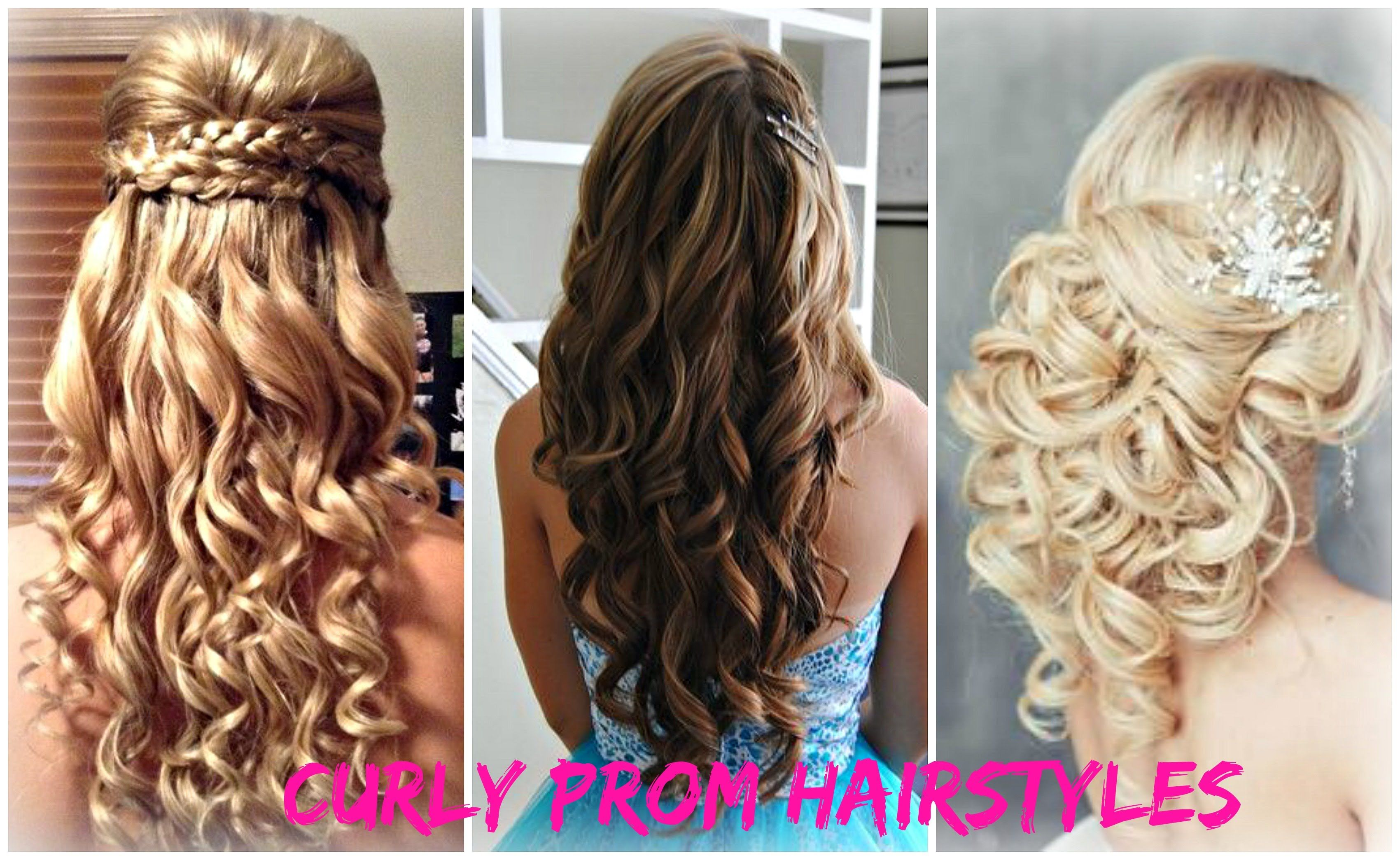 Hairstyles For Prom Curly Prom Hairstyles  Youtube  My Fantasy Hairstyles  Pinterest