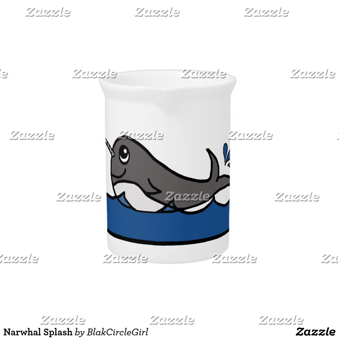Narwhal Splash Drink Pitcher Zazzle UKHashtags Bizitalk ATSocialMedia