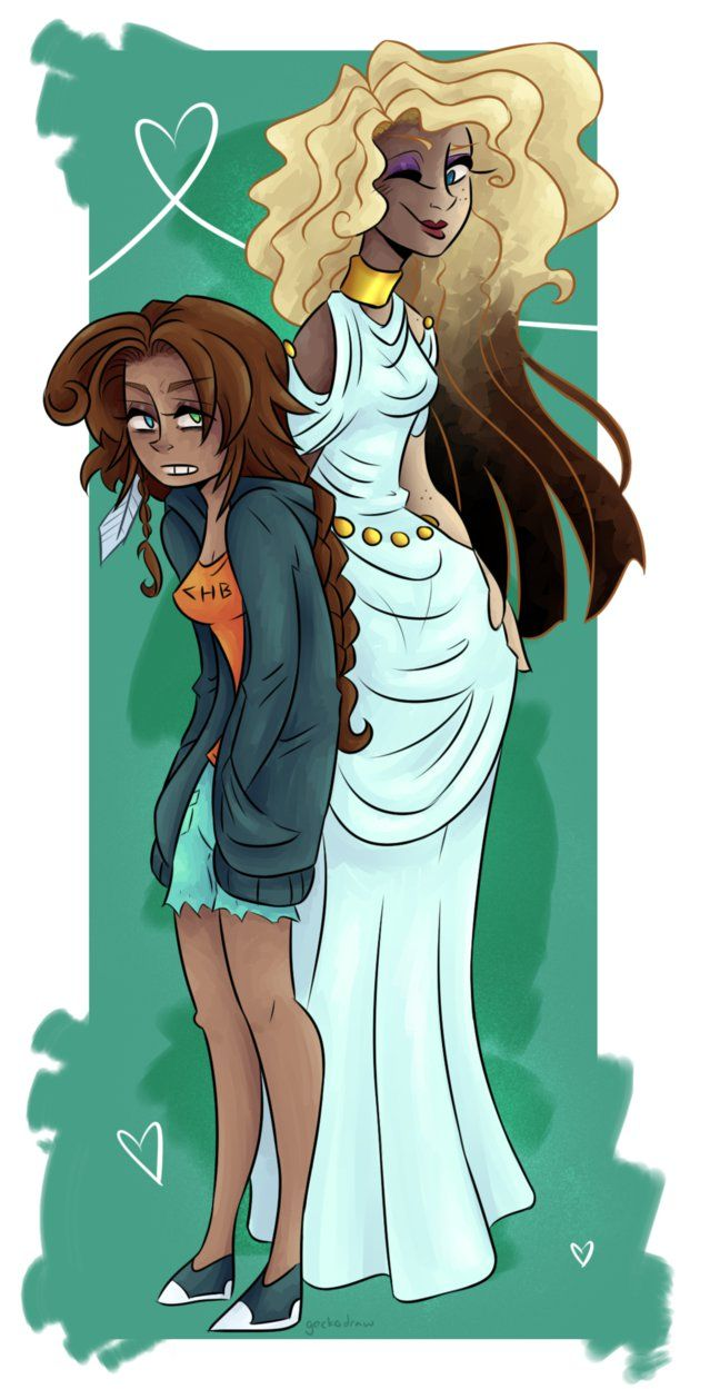 Piper and Aphrodite by GeckoSpine on DeviantArt | Percy ...
