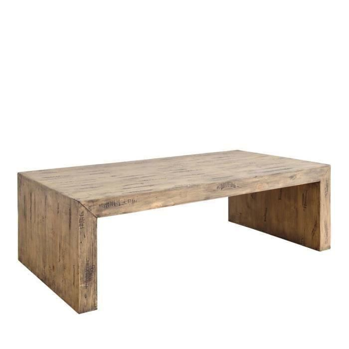 Cdiscount Com Table Basse Rectangulaire Table Basse Bois Table Basse