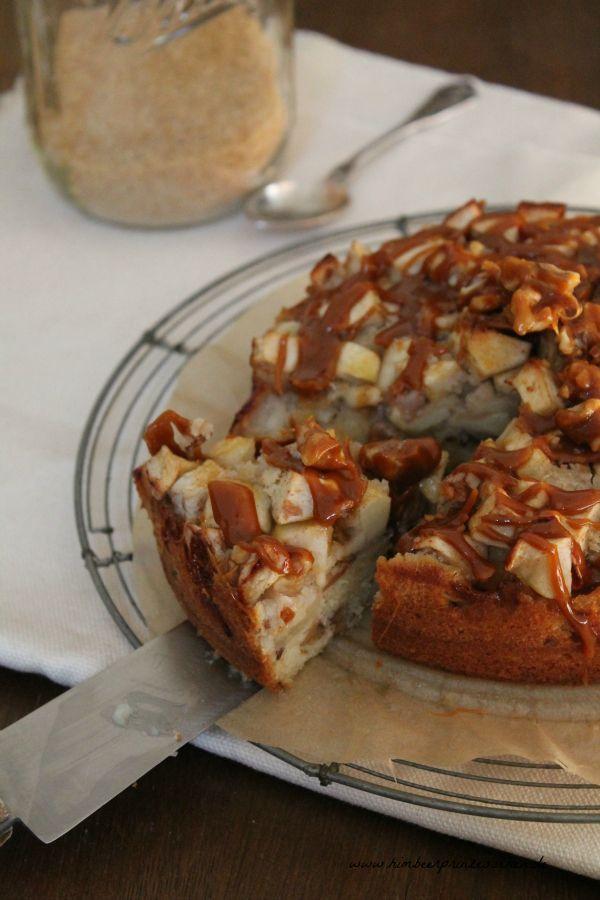 Himbeerprinzesschen Apfel Walnuss Torte Mit Karamell Kuchen