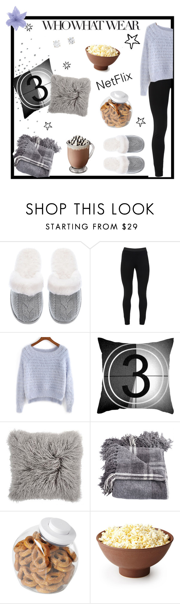 """""""Its to cold outside tonight!!"""" by abbes03 ❤ liked on Polyvore featuring Who What Wear, Victoria's Secret, Peace of Cloth, Dot & Bo and OXO"""