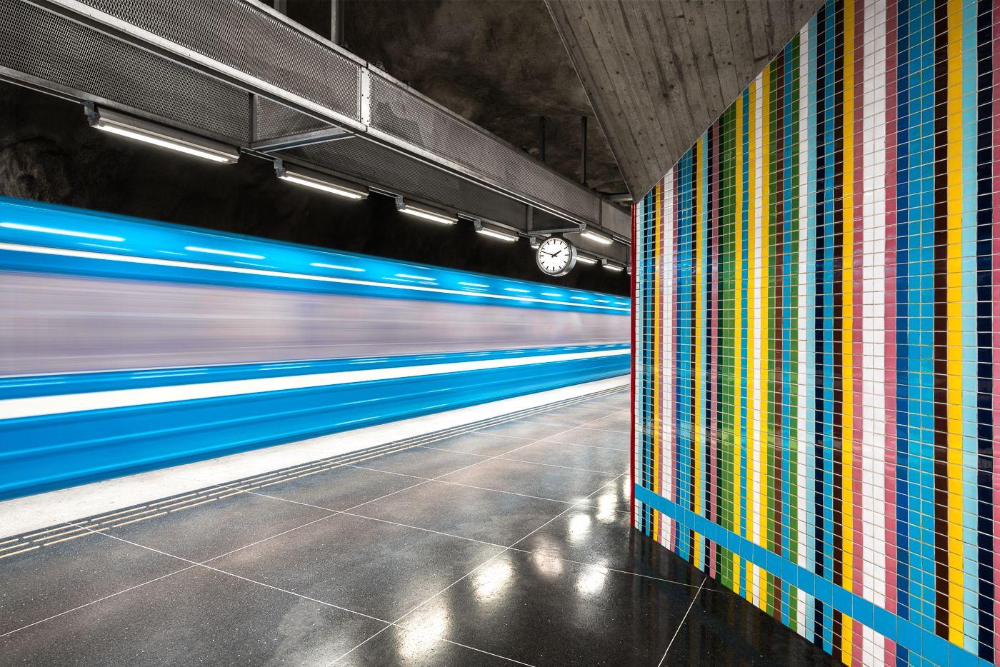 Västra Skogen Stockholm Urban Pinterest Photographers And - Vibrant photos of international subways capture their unappreciated beauty