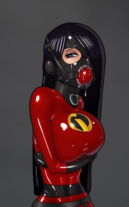 girl latex bondage anime