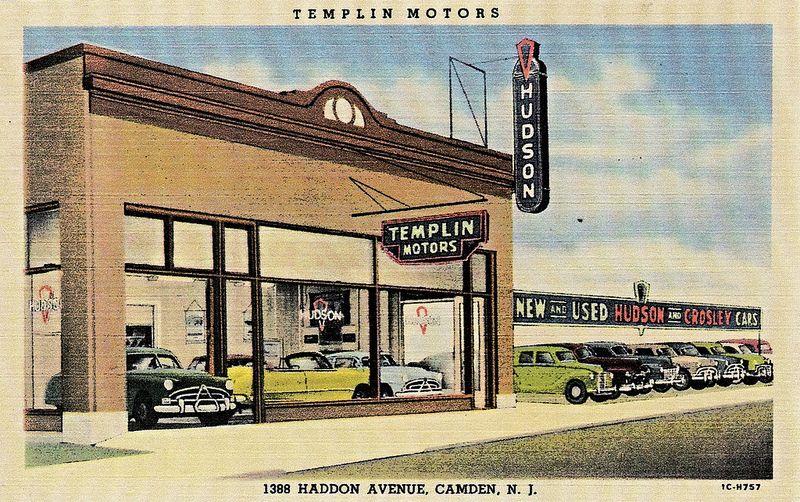 Templin Motors, HudsonAustinCrosley, Camden NJ, 1951