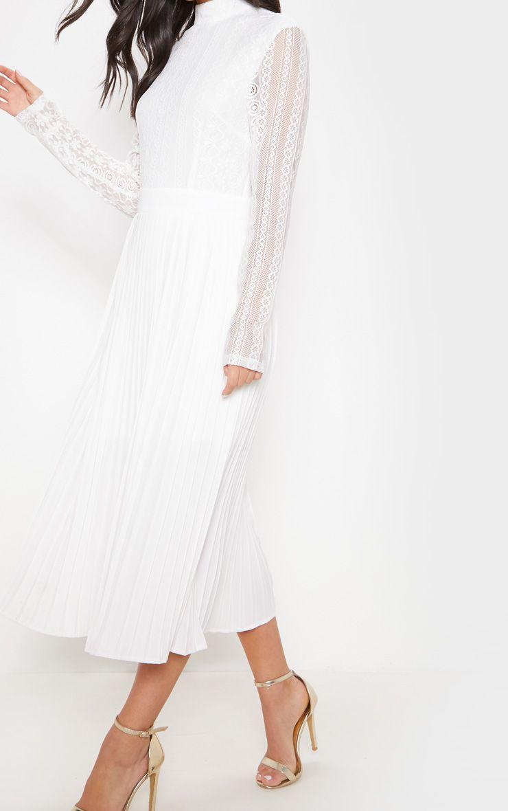 White Lace Top Pleated Midi Dress White Lace Top White Lace Midi Dress Pleated Midi Dress [ 1180 x 740 Pixel ]