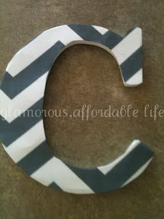 Glamorous, Affordable Life: Wall Letters- - Chevron!