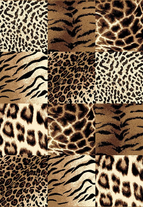 Transitional Safari Animal Print 8x11 Modern Area Rug