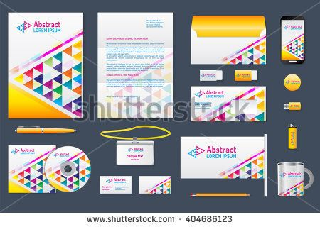 Corporate identity branding template Business documentation