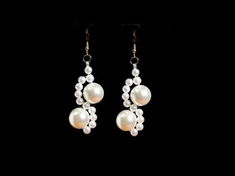 Pearl Earrings Tutorial Quick And Easy - YouTube #jewelry