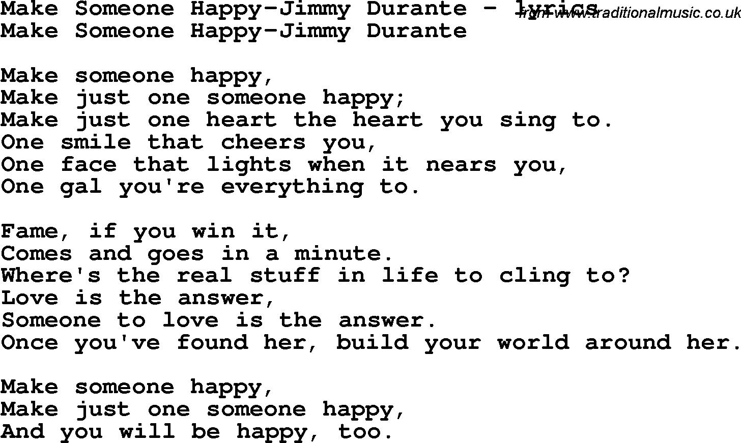 Make Someone Happy Lyrics