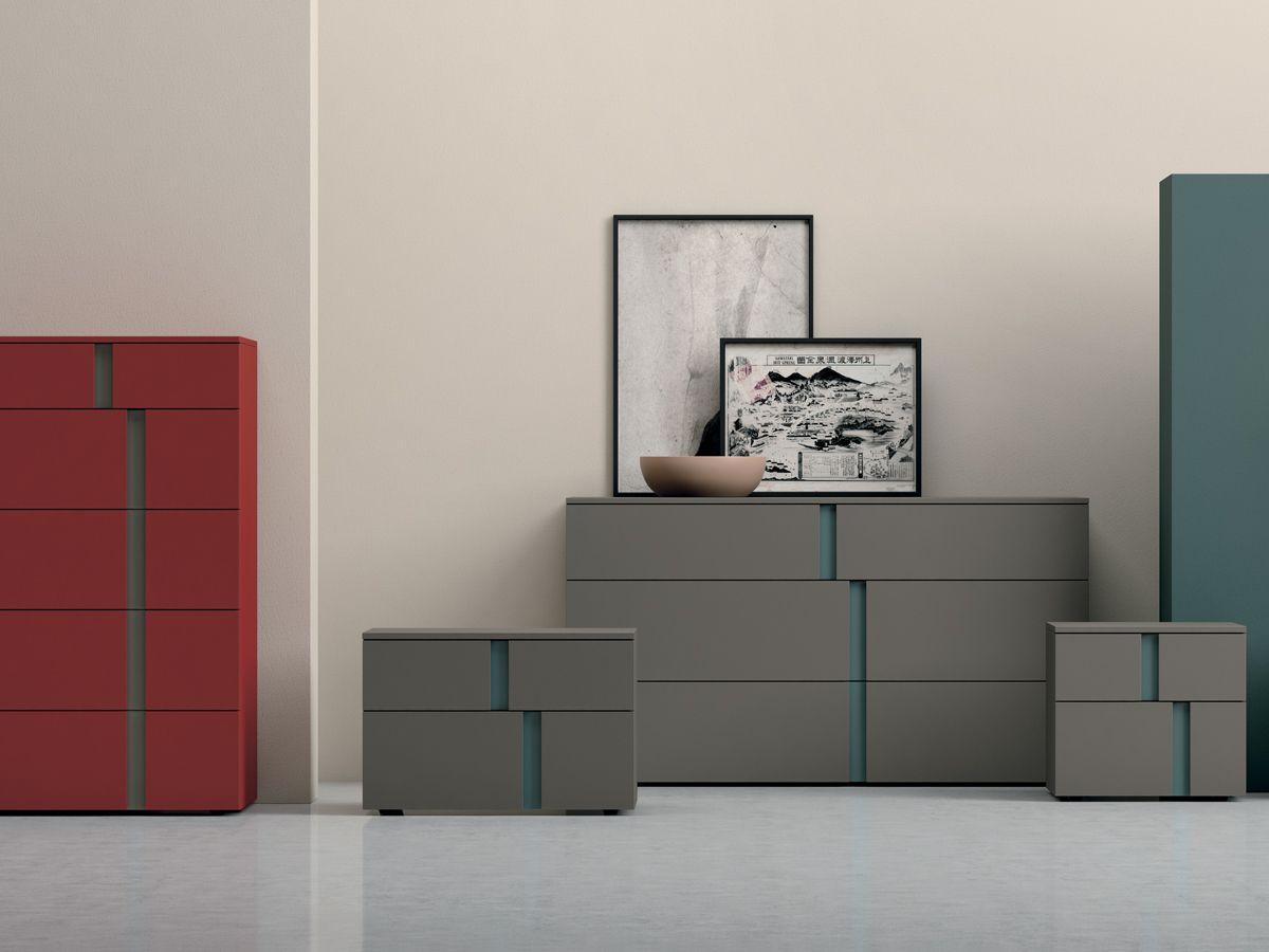 Colori mobili ~ Mobili camera athena contrasti e armonia tra forma e colore la