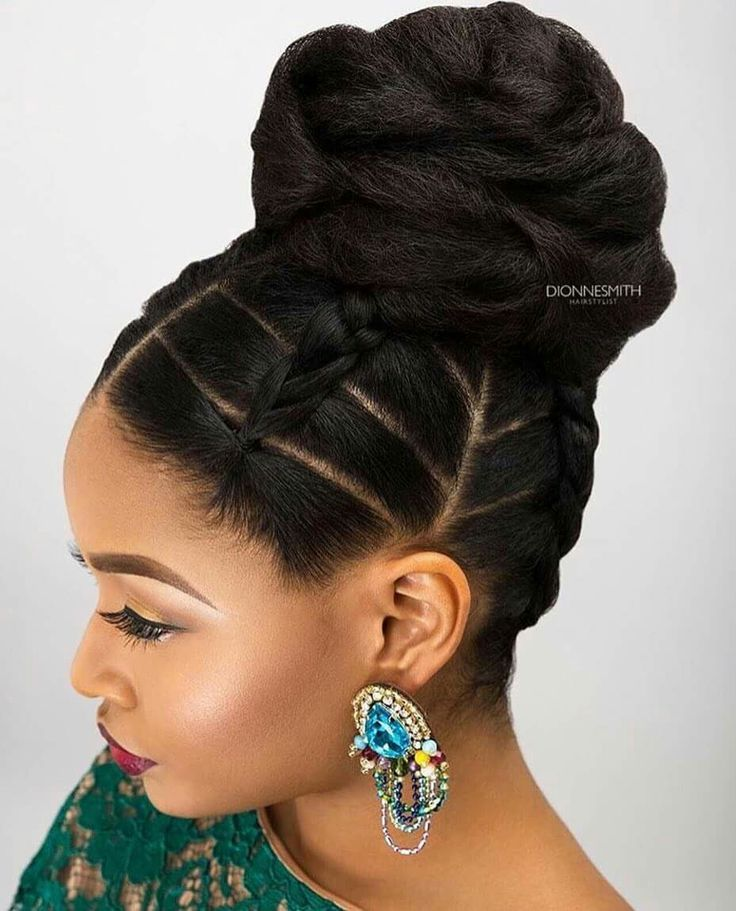 Image Result For Ghana Hairstyle For Wedding Natural Hair Bun Styles Hair Styles Natural Hair Updo