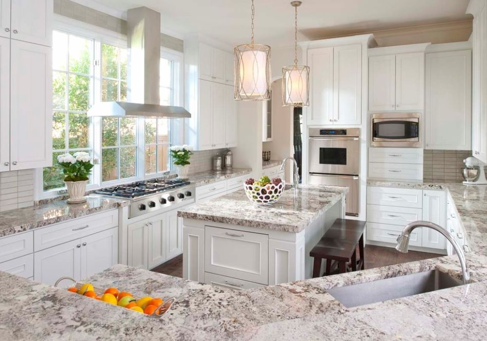 amazing granite for white cabinets Part - 3: amazing granite for white cabinets design inspirations