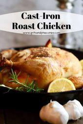 Photo of Easy Cast-Iron Roast Chicken-Easy Cast-Iron Roast Chicken  C…