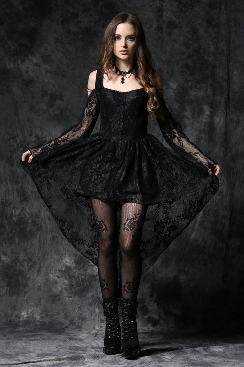 Ghost Gothic Dress By Dark In Love Features Black Lace Buttons Down