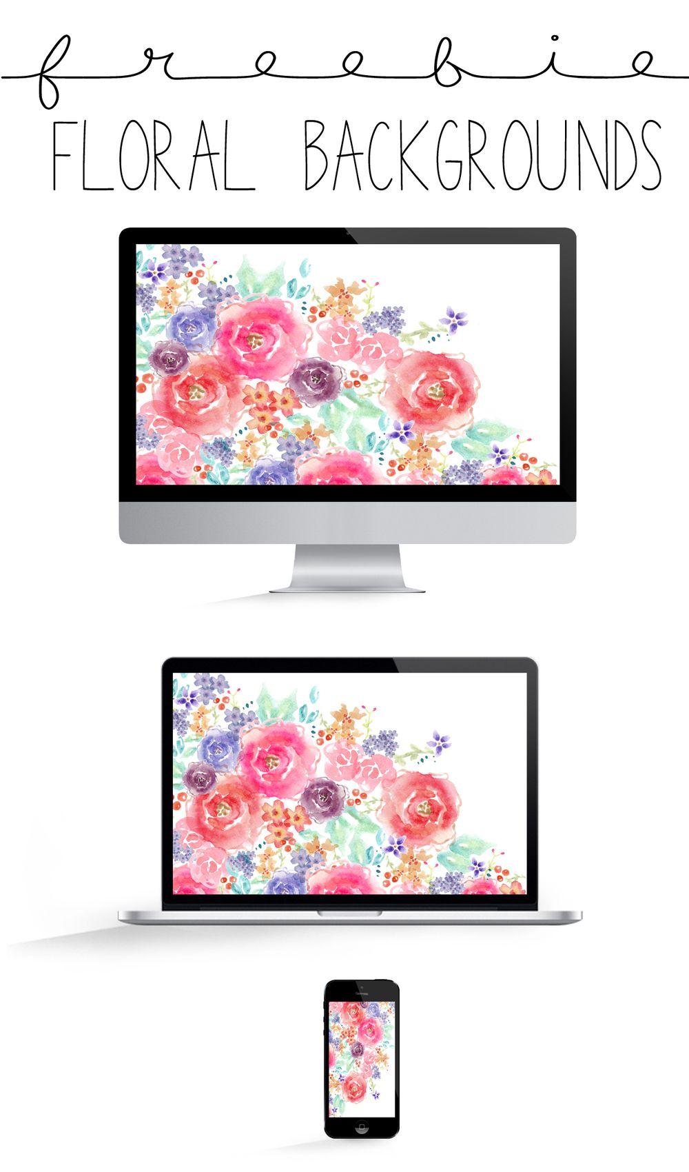 Freebie Floral Desktop Iphone Tablet Backgrounds The Paper Curator Floral Wallpaper Desktop Spring Desktop Wallpaper Iphone Wallpaper