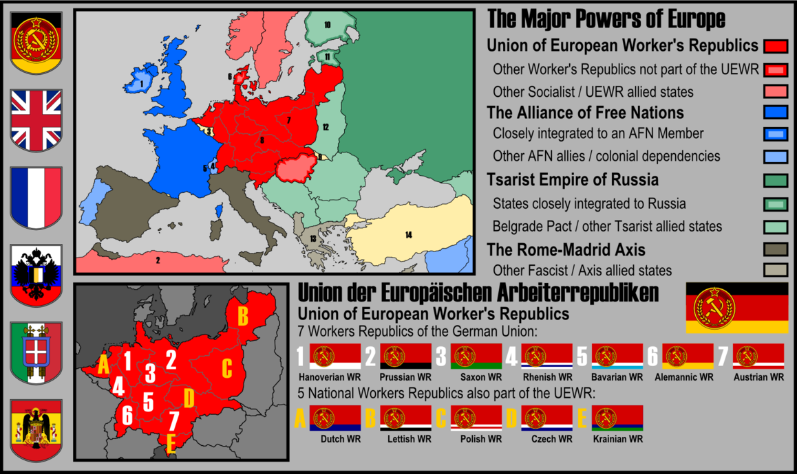 My Entry For Motf 45 A Communist Greater Germany In This Timeline After A First World W Europe Map Alternate History Map