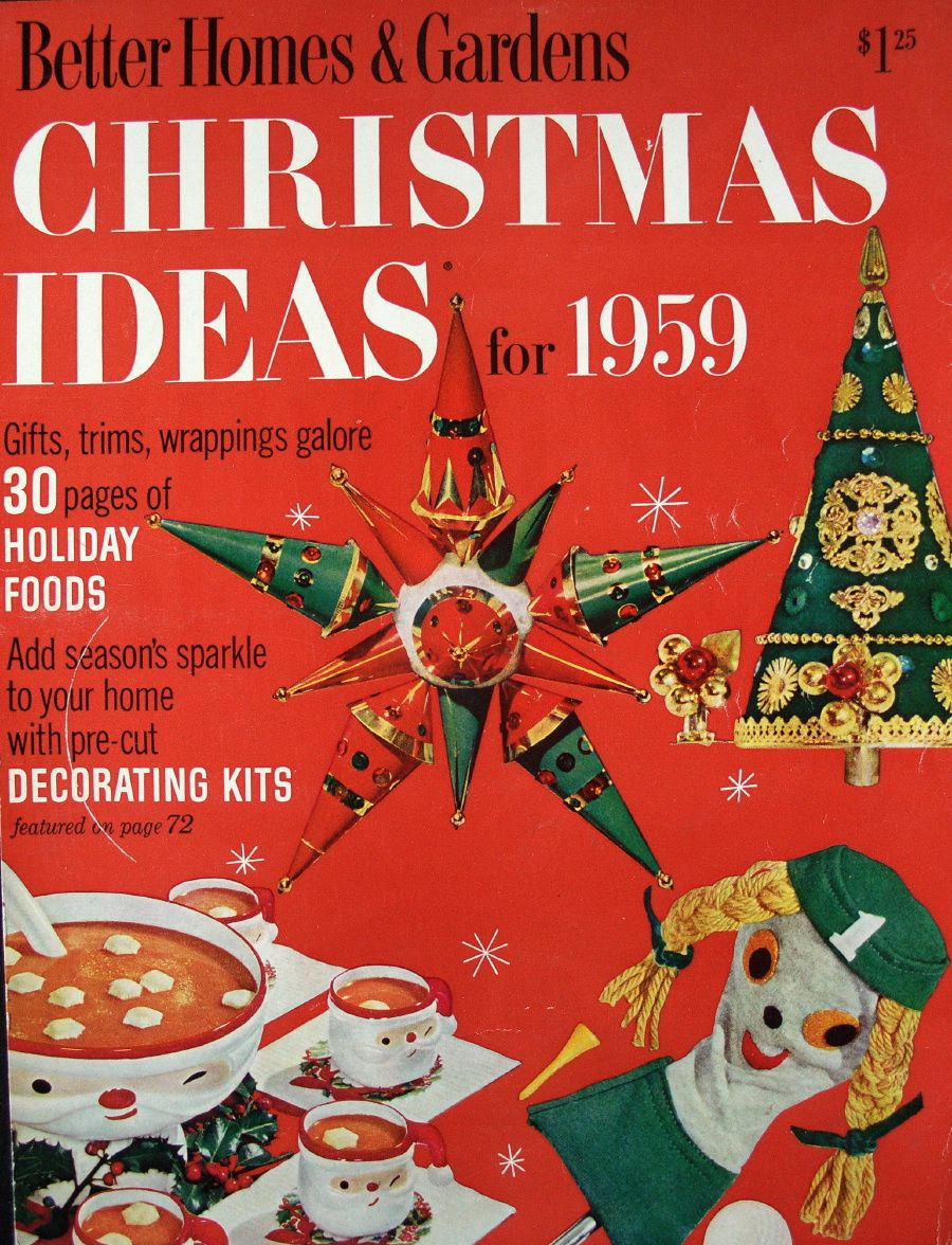 Christmas Ideas Magazine Cover 1959 With Images Christmas Decoration Storage
