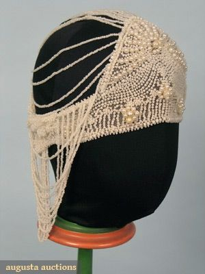 beafadfbb65 1 pearl beaded skull cap on white cotton net