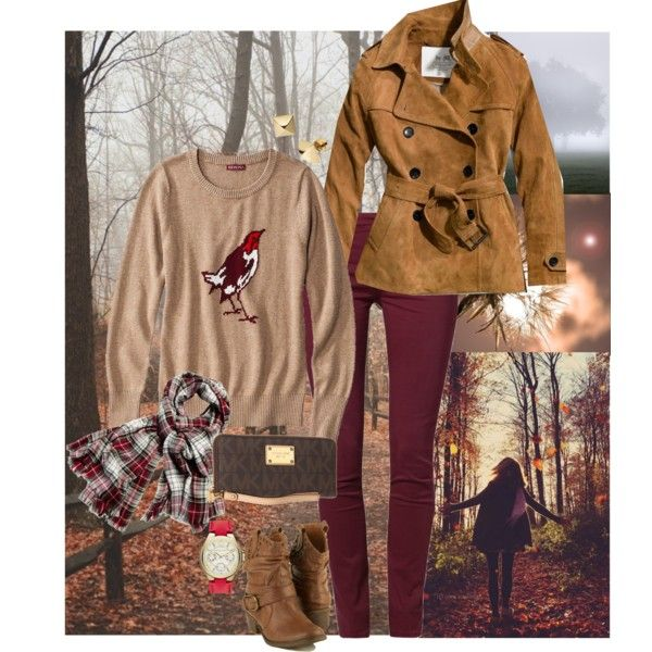 Afternoon Stroll by myshell, via Polyvore #falloutfit #plaid #suede