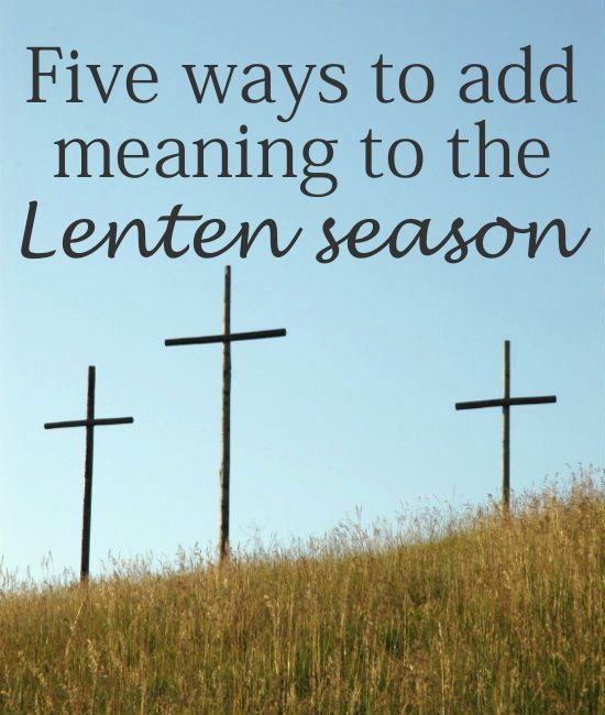 giving something up for lent