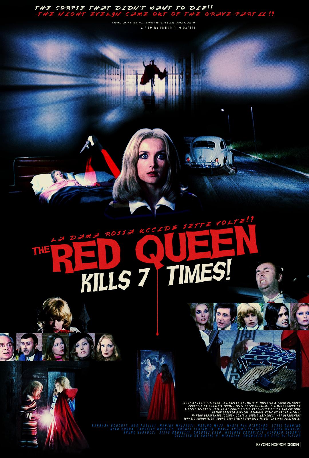 Risultati immagini per THE RED QUEEN KILLS SEVEN TIMES ( 1972 ) POSTER