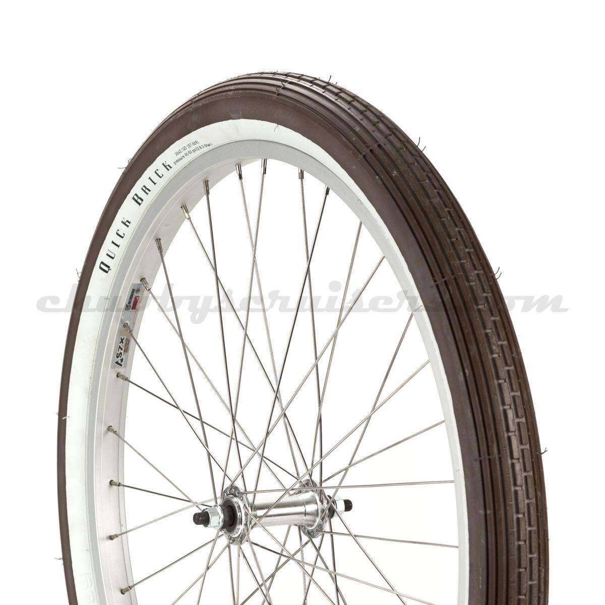 Felt Brown w/White Wall Quick Brick Cruiser Tire | Chubby\'s Cruisers ...