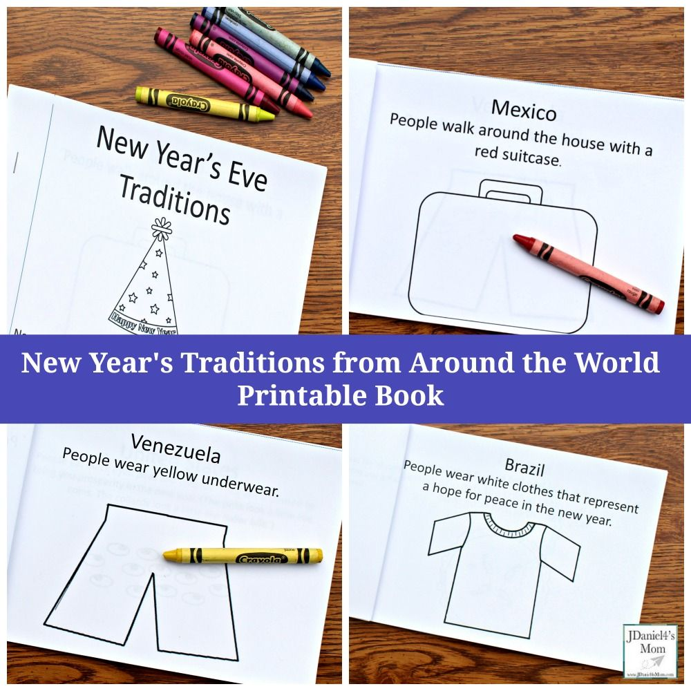 New Year S Traditions From Around The World Printable Book For Kids New Years Traditions Printable Books New Years Eve Traditions