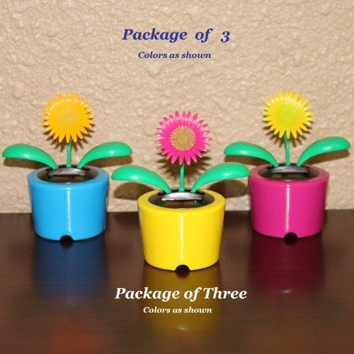 Solar Powered Dancing Gerber Daisy Flower - Package of Three (3) Flowers $11.95 #topseller