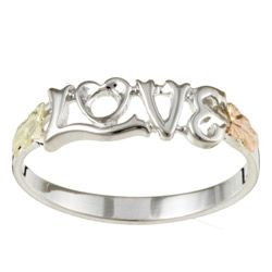 @Overstock - Click here for Ring Sizing ChartRing features the word 'love'Silver and black hills gold jewelryhttp://www.overstock.com/Jewelry-Watches/Sterling-Silver-and-14k-Black-Hills-Gold-Love-Ring/4128858/product.html?CID=214117 $47.49
