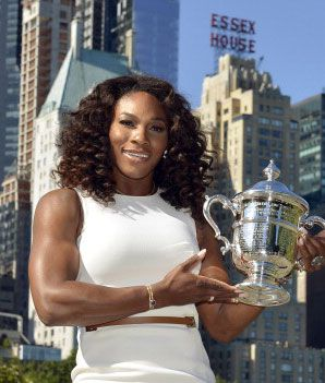 Serena Williams wins her fourth US Open! I bet a few guys fency her arms!! SHes a beast at what she does!!