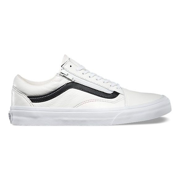 Premium Leather Old Skool Zip | Mens vans shoes, Vans old