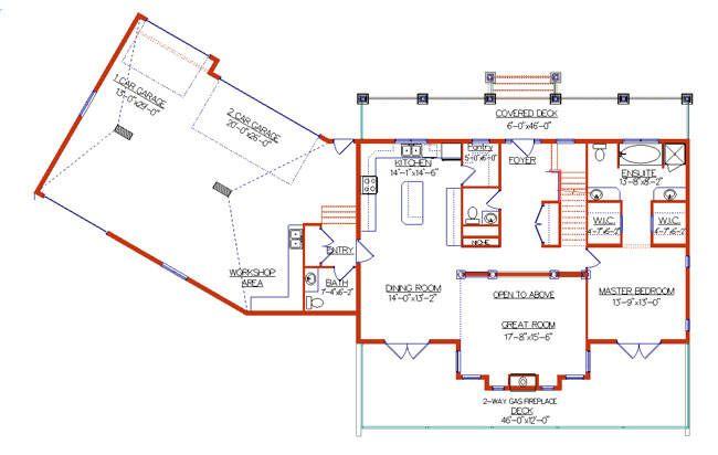Angled Garage Layout Garage Plans Basement Floor Plans House Plans