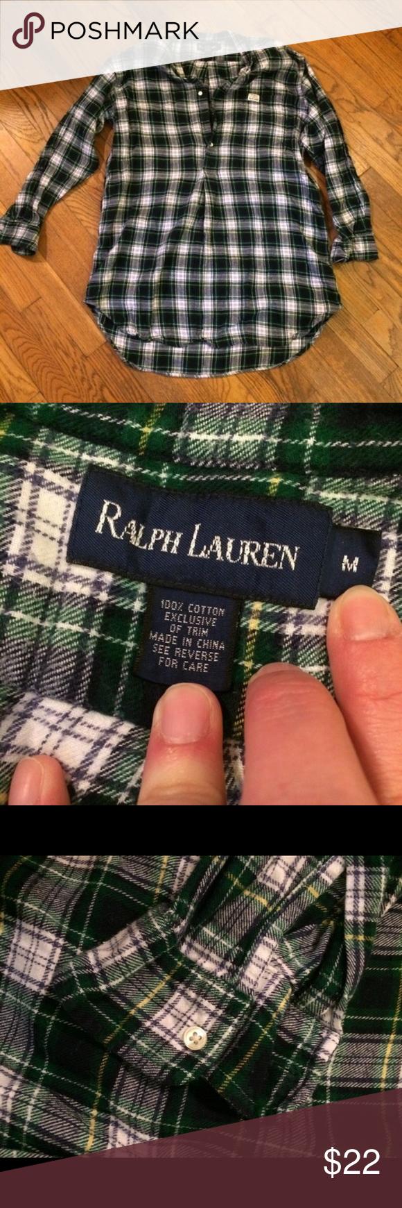 Ralph Lauren plaid pullover tunic In perfect condition. Size medium. Ralph Lauren Tops Tunics