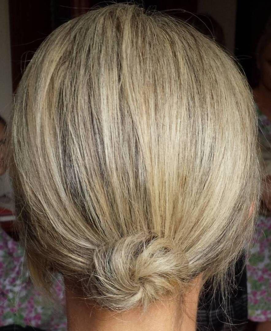 Small Low Bun For Short Hair Short Hair Bun Short Hair Styles Easy Short Hair Tutorial