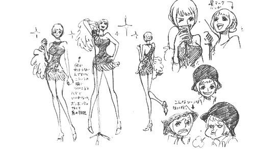 One Piece Film Gold Carina Sheet Character Design