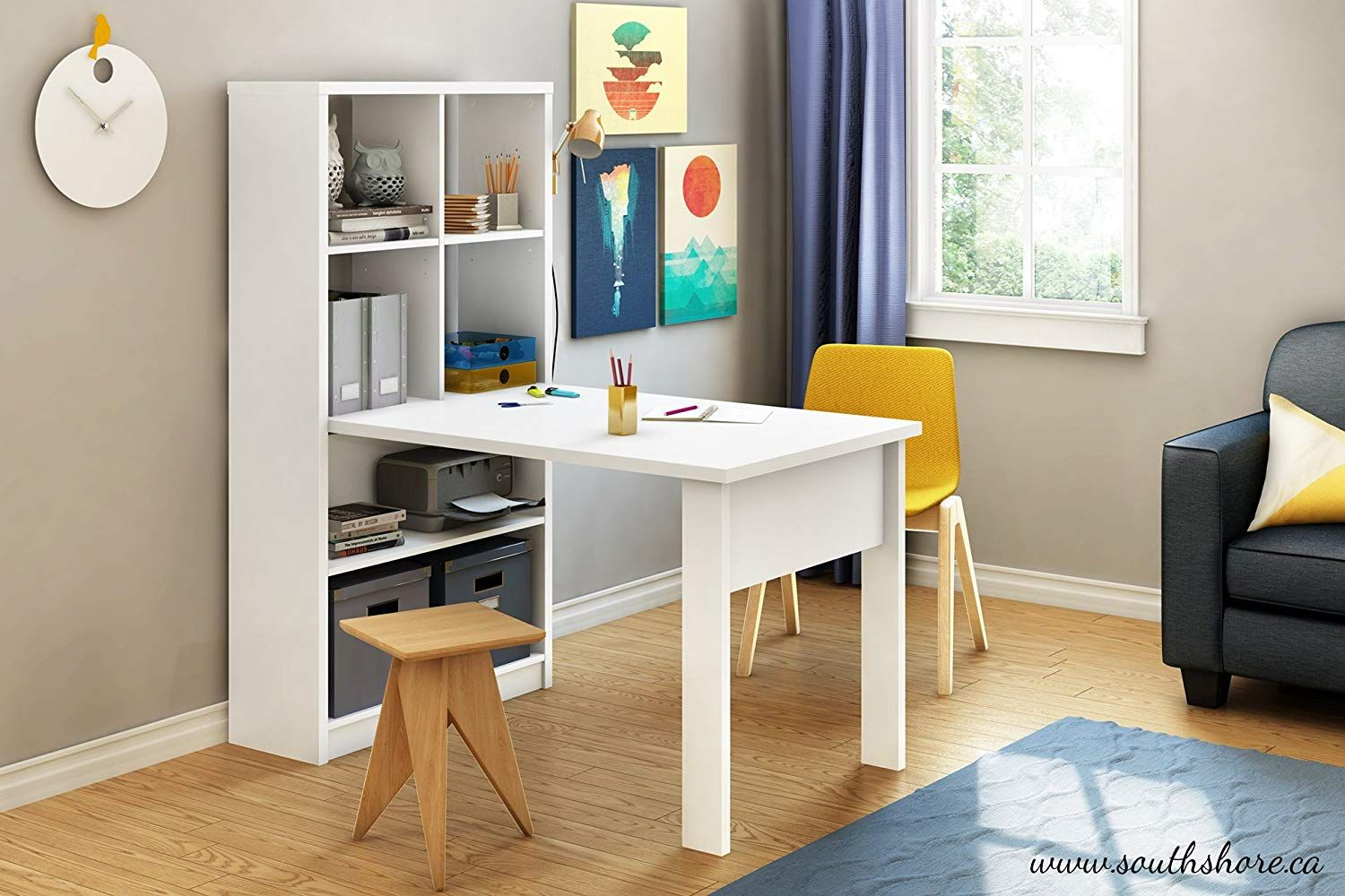 South Shore 7250798 Work Table for 2 and