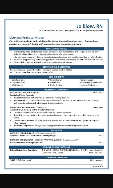 Pin by Sarah Howard on NURSING SCHOOL ♡ Pinterest - entry level pharmaceutical resume example