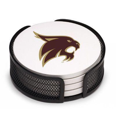 Thirstystone 5 Piece San Marcos Texas State University Collegiate Coaster Gift Set