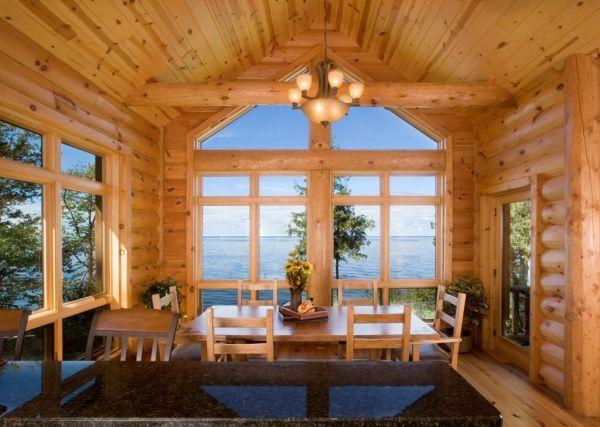 custom hybrid log homes & timber-frame homes – photo gallery