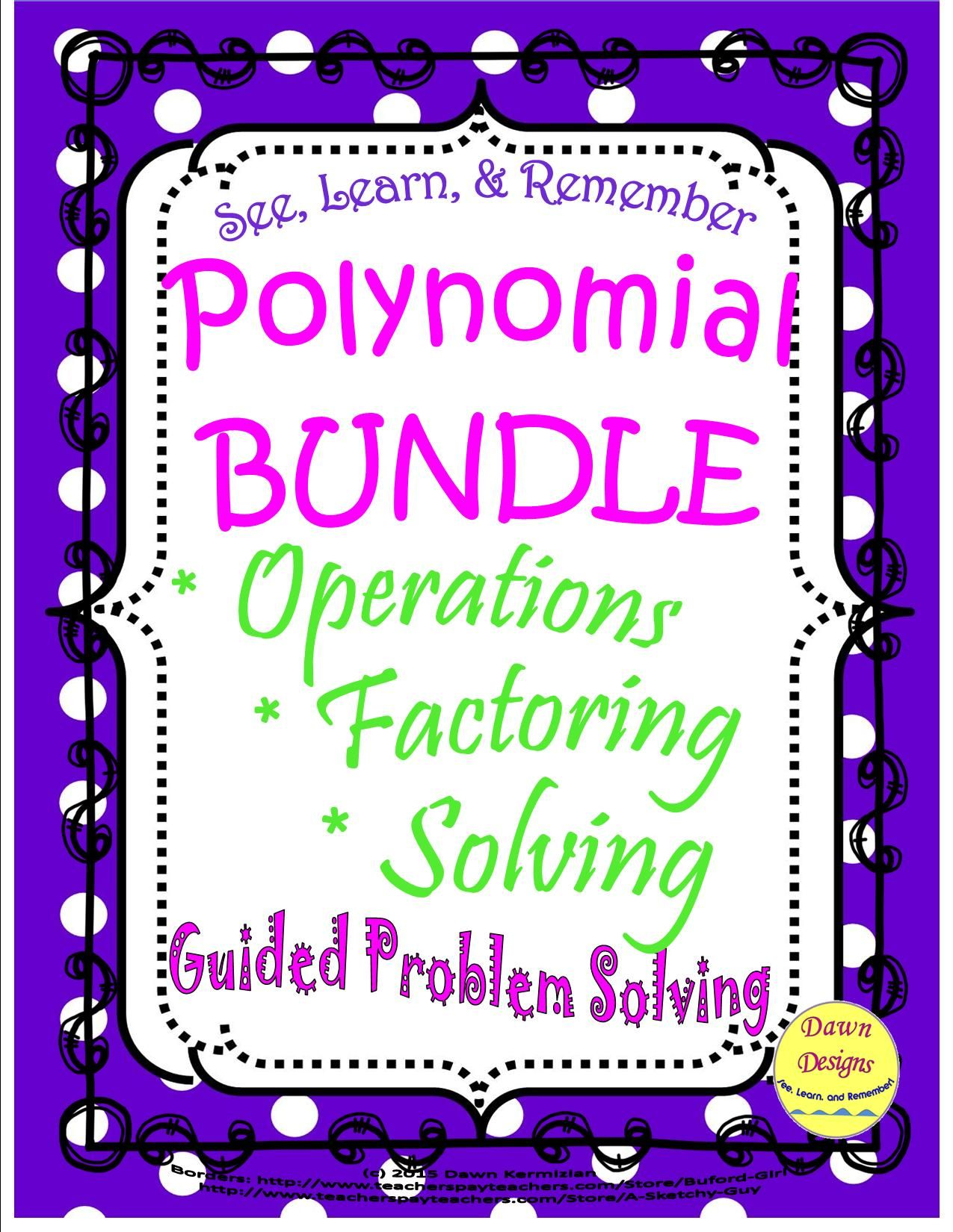 Polynomial Bundle Operations Factoring Amp Solving