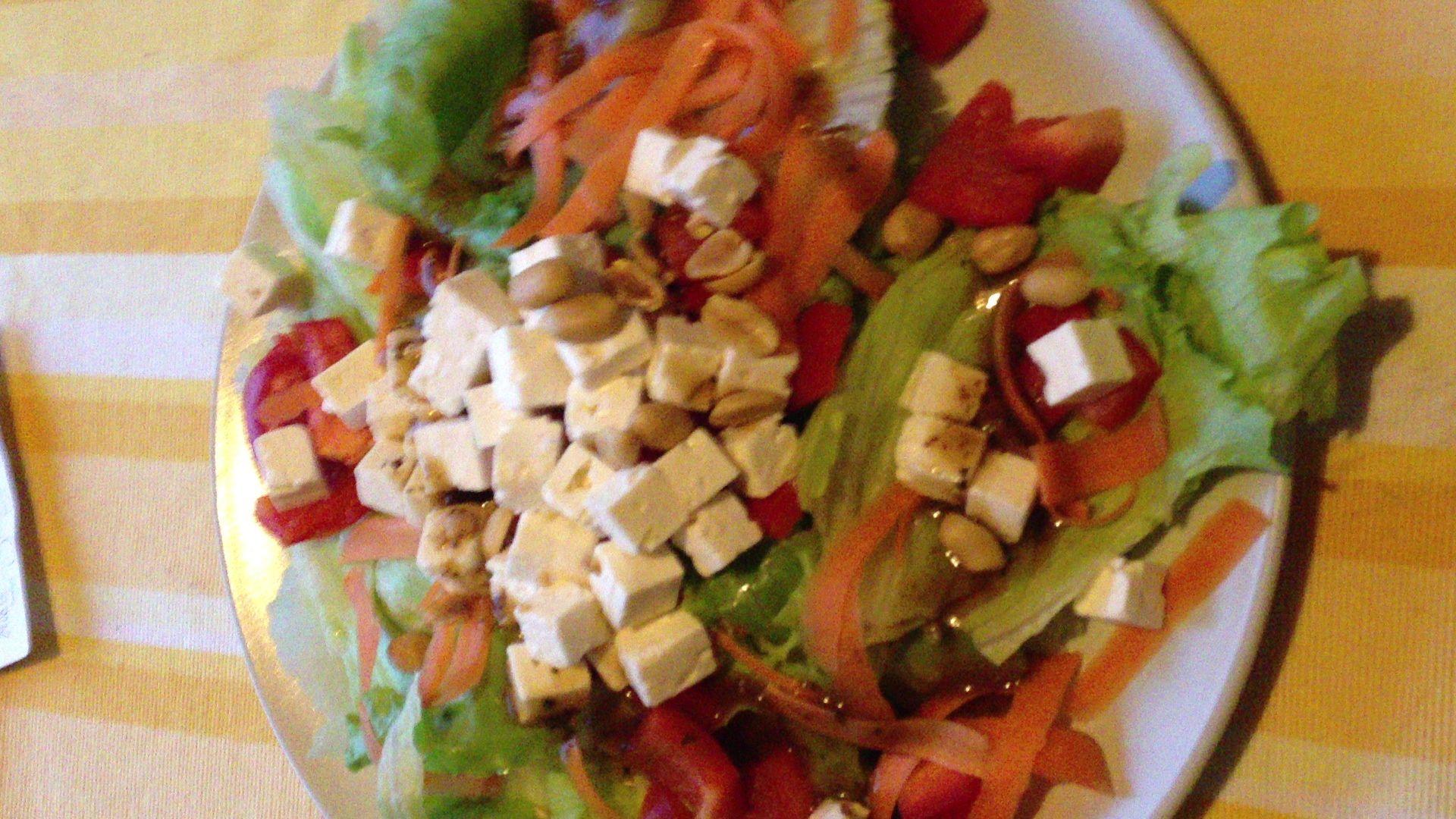 Feta cheese salad for dinner