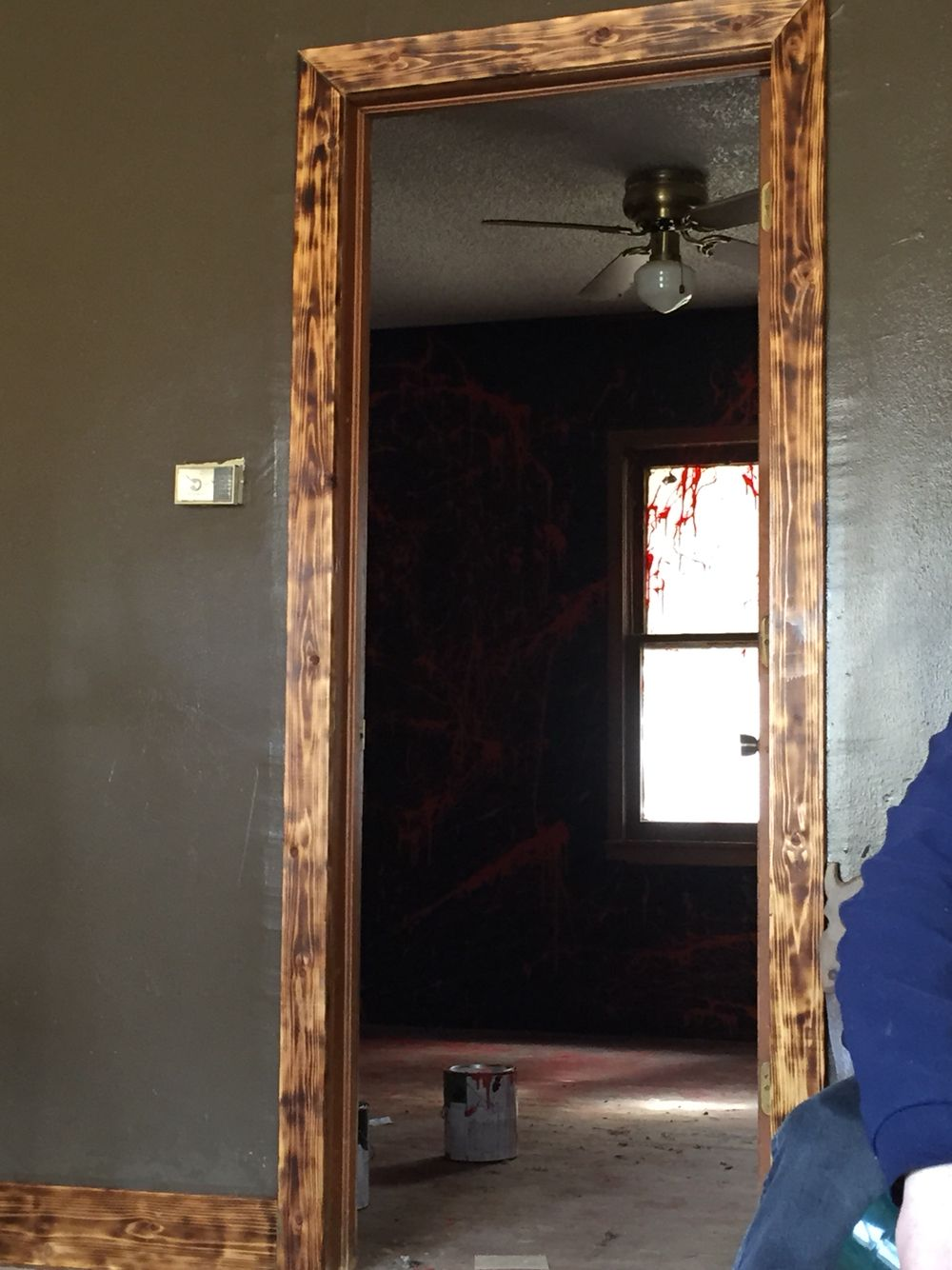 Trim In My New House Cedar Boards Burnt With A Torch Then Cover With Glossy Polyurethane Walls Are A Chocolate Brown House Trim Burnt Wood Finish Cedar Walls