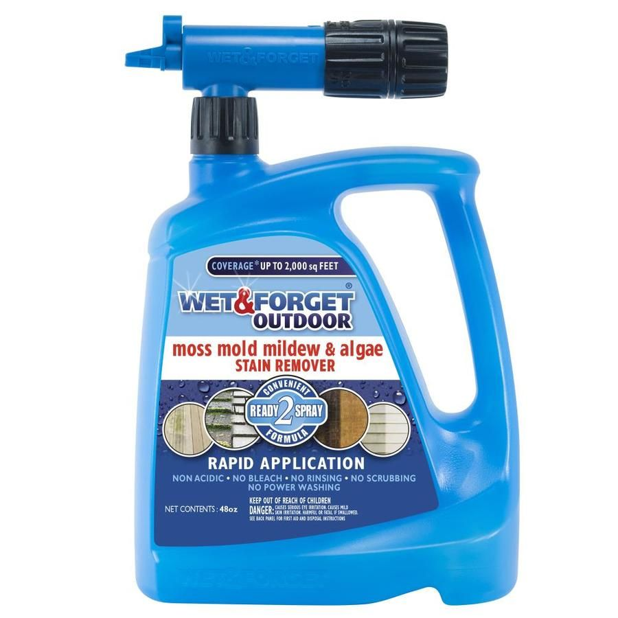 Wet And Forget 48 Fl Oz Outdoor Cleaner Lowes Com Cleaning Vinyl Siding Mold And Mildew Deck Cleaner