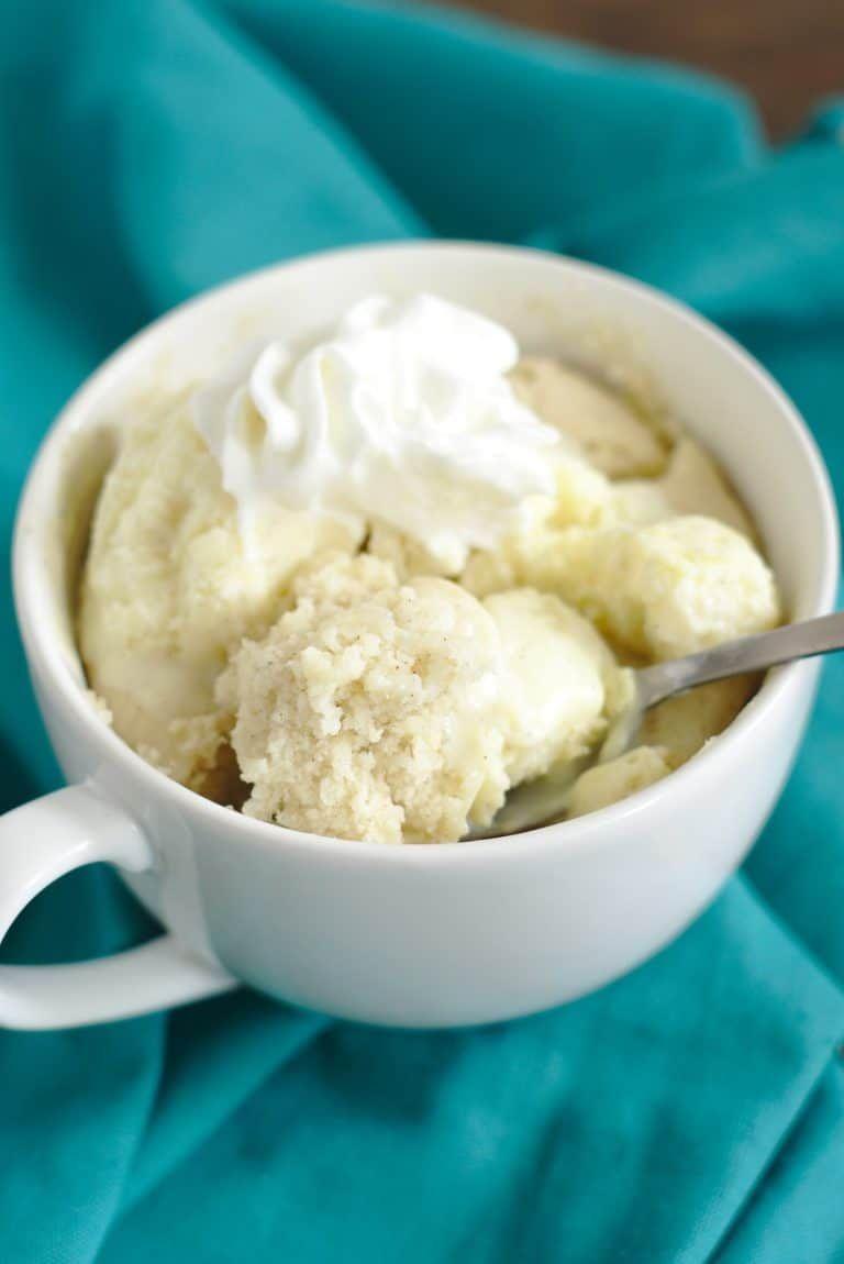 Easy Vanilla Mug Cake Recipe - Mildly Meandering | Recipe ...