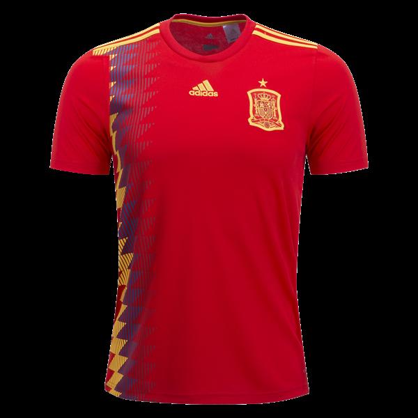 Coup Spain: 2018 Coupe Du Monde Maillot Espagne Domicile