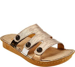 384a126c6732e Alegria Leather Slip-on Sandals w  StrapDetails -Venice in 2018 ...